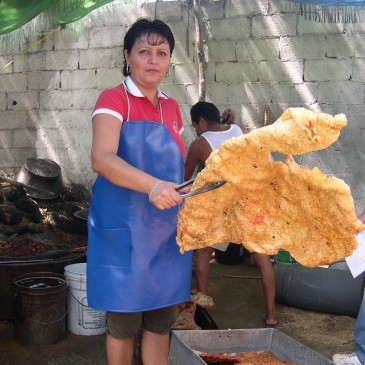 Quite Big Pork Scratching!