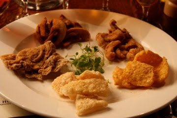 Beer and Pork Scratchings, from the Eat My Nels Blog