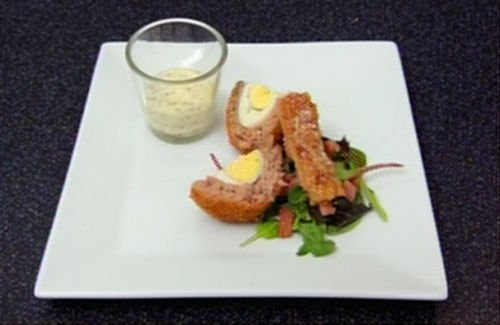 scotch egg A1 - Scotch Eggs with Pork Scratchings Recipe