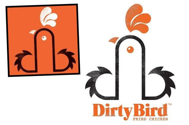 bonus a restaurant dirtybird has a logo thats getting tweeted a lot because it looks phallic the restaurant says its just a clever way to put the d and b together that looks like a rooster 1 - Dirty Bird Chicken Logo