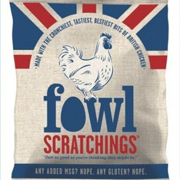 Fowl Scratchings, a snack made from chicken skin