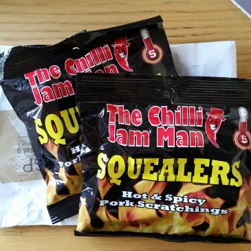 Chilli Jam Man delivery causes pork scratching log jam