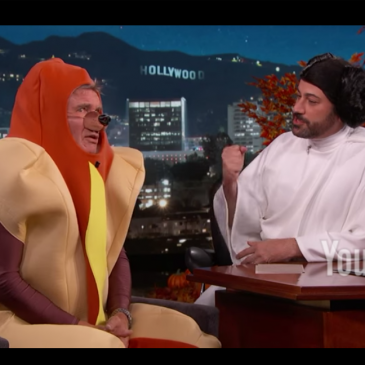 Harrison Ford Talks About Star Wars The Force Awakens in a Hotdog costume