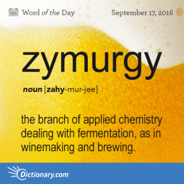 Word of The Day – Zymurgy