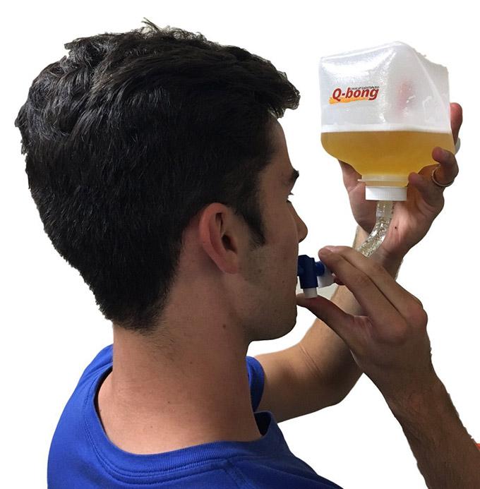 QBong Pressurized Beer Bong