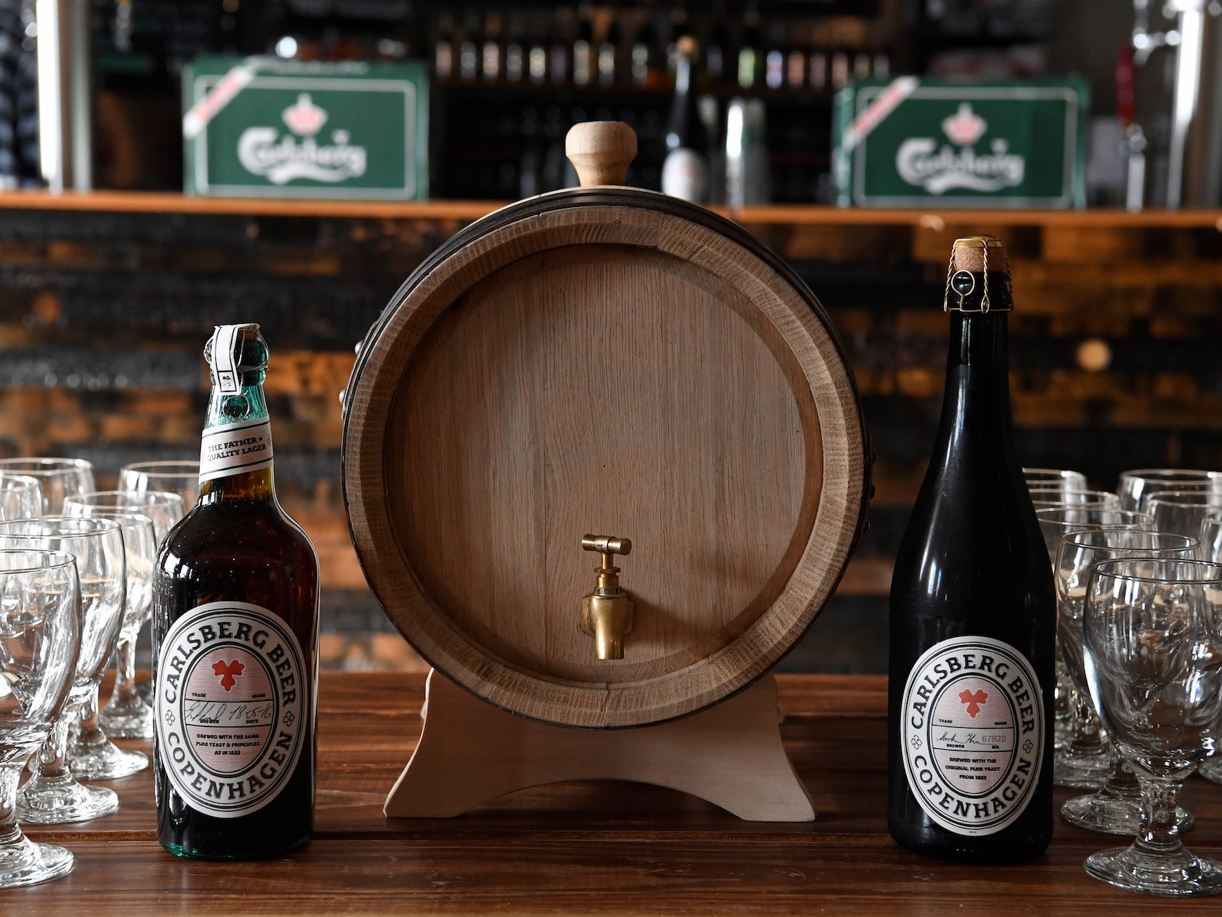 Carlsberg Rebrew beer made with ancient lager yeast