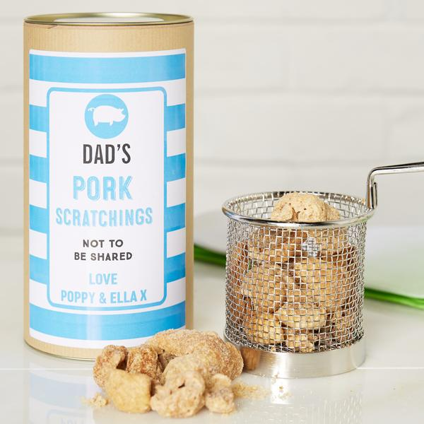 Pork Scratchings in Personalised Gift Tin
