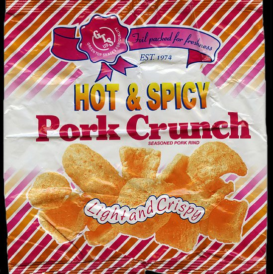 Green Top Snacks Hot Spicy Pork Crunch Review 549x550 - Green Top Snacks, Hot & Spicy Pork Crunch Review