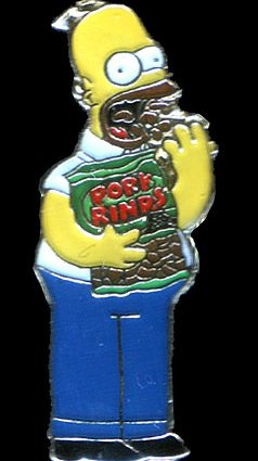 Homer Simpson pork rinds badge 238x425 - Homer Simpson Pork Rinds Badge