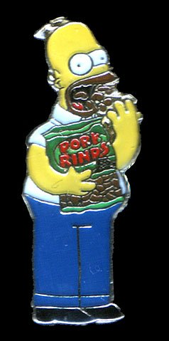 Homer Simpson pork rinds badge - Homer Simpson Pork Rinds Badge