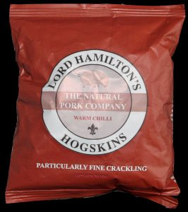 Lord Hamiltons Hogskins Warm Chilli Particularly Fine Crackling Review 266x300 - Pork Scratching Bags