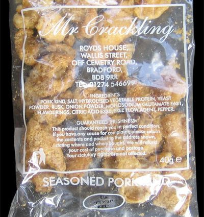Mr Crackling Seasoned Pork Rinds Review 400x425 - Mr Crackling, Seasoned Pork Rinds Review