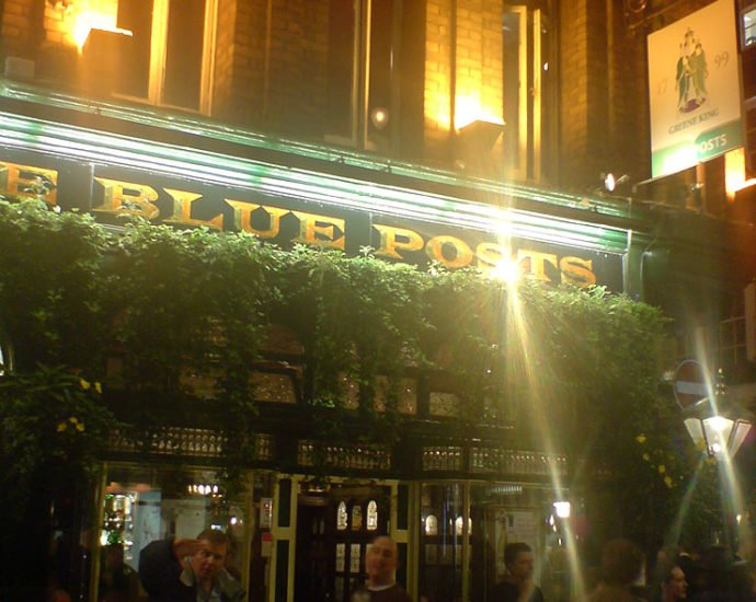 The Blue Posts Soho London Pub Reviewb 690x550 - The Blue Posts (b), Soho, London - Pub Review
