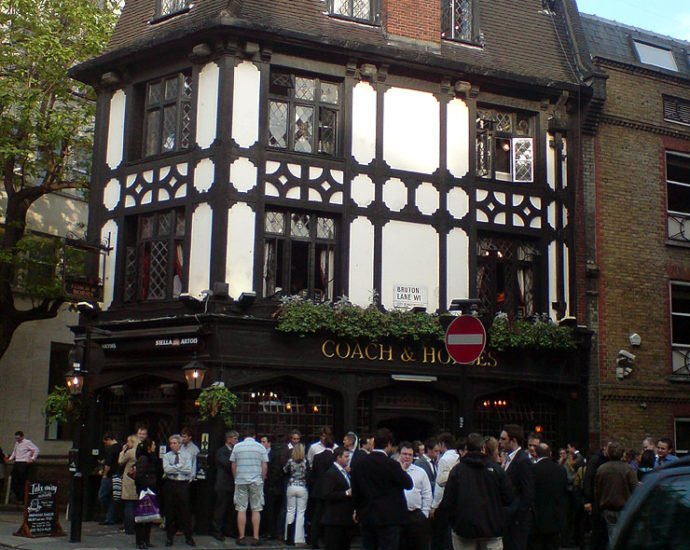 The Coach and Horses Mayfair London Pub Review 690x550 - The Coach and Horses, Mayfair, London - Pub Review