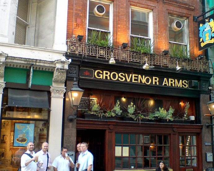 The Grosvenor Arms Mayfair London Pub Review 690x550 - The Grosvenor Arms, Mayfair, London - Pub Review