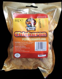 Familia Foods Chicarones Spiced Vinegar Flavour Pork Crackling Review 238x300 - Pork Scratching Bags