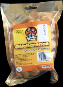 Familia Foods Chicarones Spicy Flavour Pork Scratchings Review 216x300 - Pork Scratching Bags
