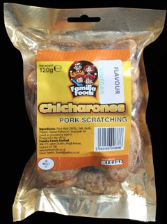 Familia Foods Chicarones Vinegar Flavour Pork Scratchings Review - Familia Foods, Chicarones, Vinegar Flavour Pork Scratchings Review
