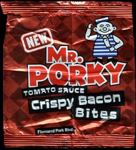 Mr Porky Tomato Sauce Crispy Bacon Bites None Review 272x300 - Pork Scratching Bags
