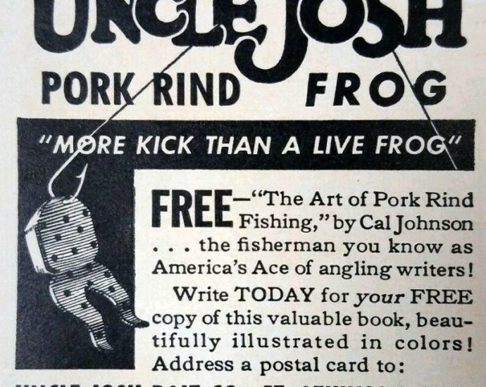 Uncle Josh Pork Rind Frog 690x550 - Uncle Josh Pork Rind Frog