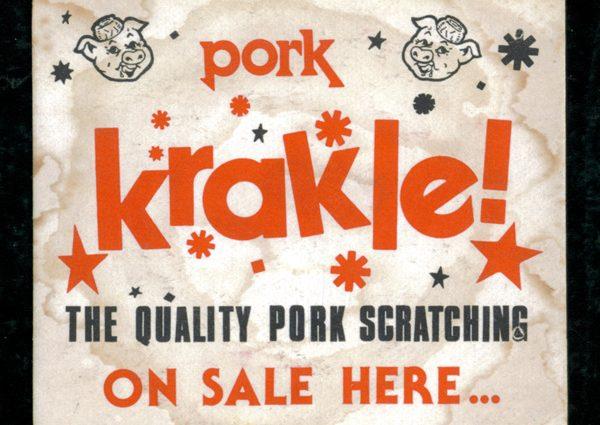 vintage pork krackle beer mat 600x425 - Vintage Pork Krackle Beer Mat