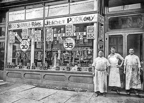 old butchers shop - The History of Pork Scratchings