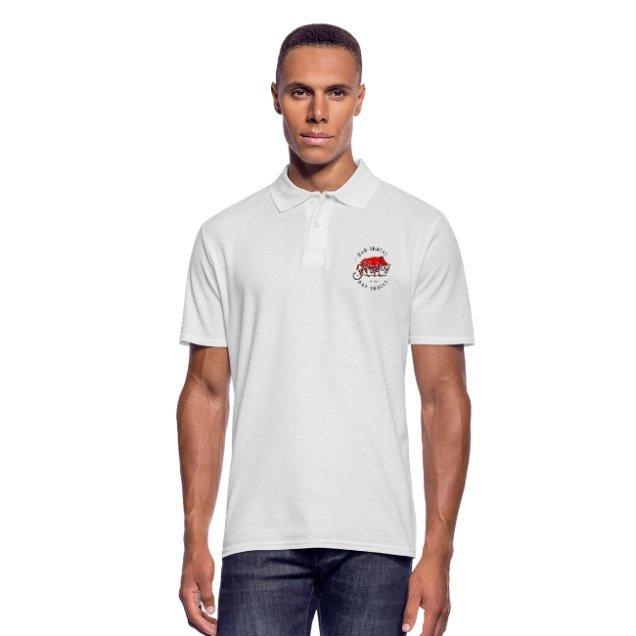 mens hairy bar snacks boar polo tee shirt - Polo Shirts