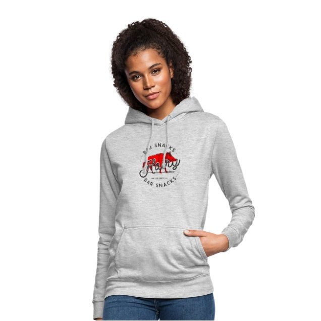 womens hairy bar snacks boar hoodie - Hoodies