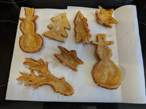 Pork crackling Christmas decorations