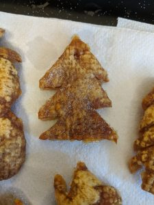 Pork crackling Christmas tree decoration