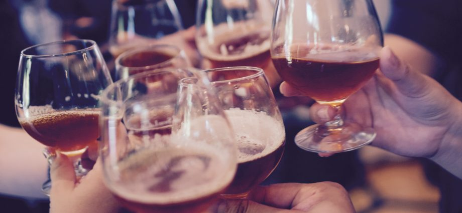 good news from the pub - people drinking beer
