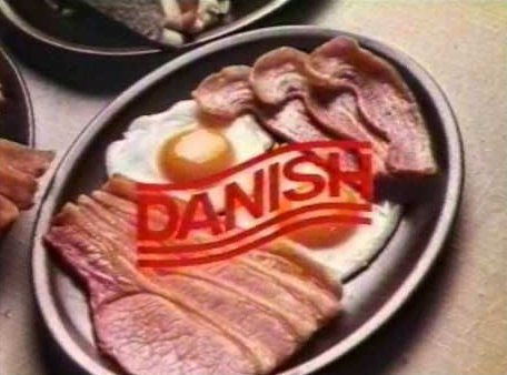 danish bacon advert - What breed of pig is used to make pork scratchings?