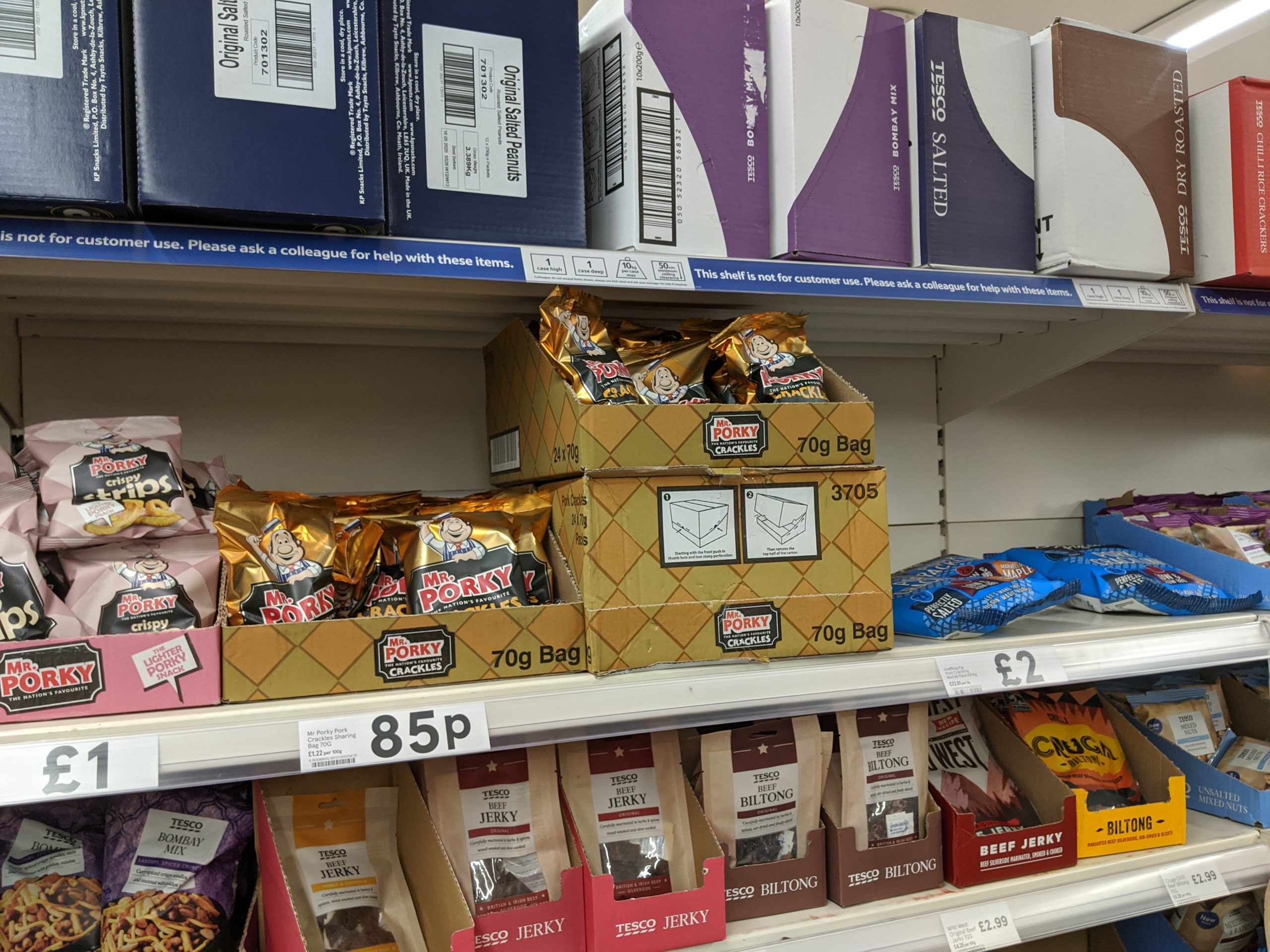 Tesco various pork scratchings scaled - Does Tesco Sell Pork Scratchings?