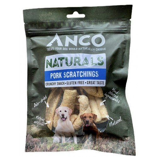 Anco Naturals Pork Scratchings Bag - Anco Pork Scratchings for Dogs