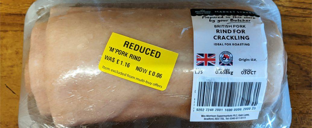 Morrisons reduced pork rind for crackling 1035x425 - Tips for buying reduced pork rind from Morrison's
