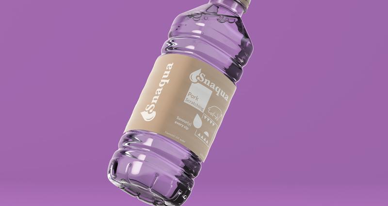 Snaqua pork scratching flavoured water 800x425 - Pork Scratching Flavour Water! - Snaqua is the World's First Savoury Water
